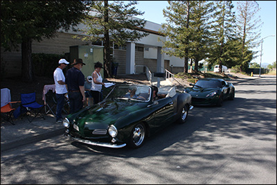 karmann ghia at 1st checkpoint